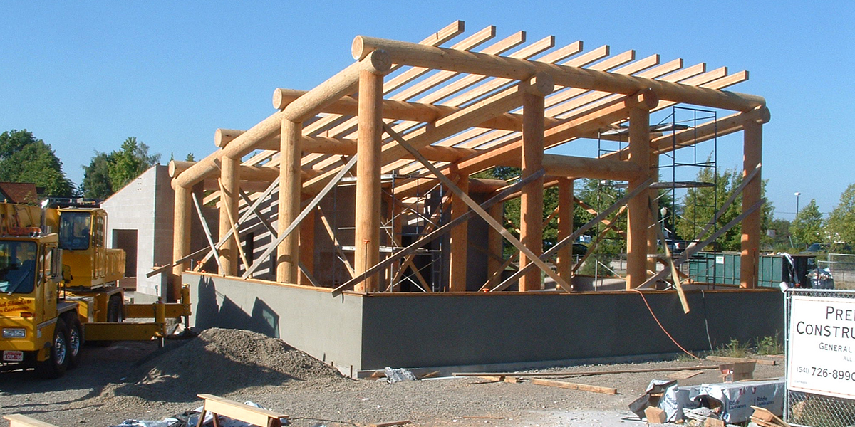New Longhouse under construction